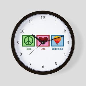 Peace Love Ballooning Wall Clock