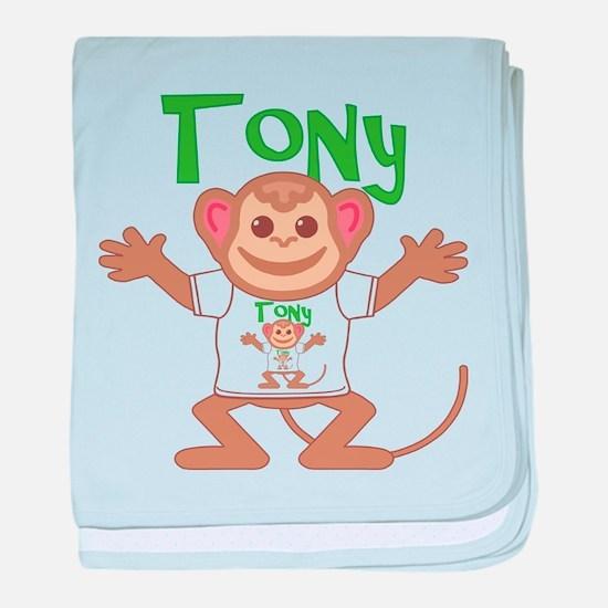 Little Monkey Tony baby blanket