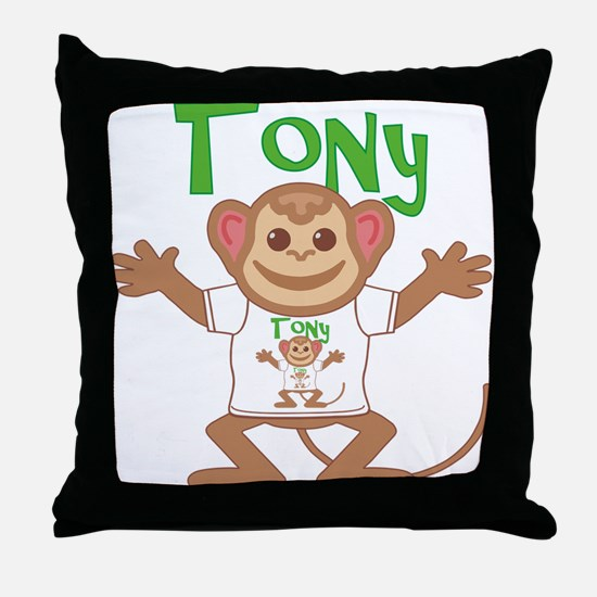 Little Monkey Tony Throw Pillow
