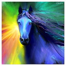 Fresian horse 1 Poster