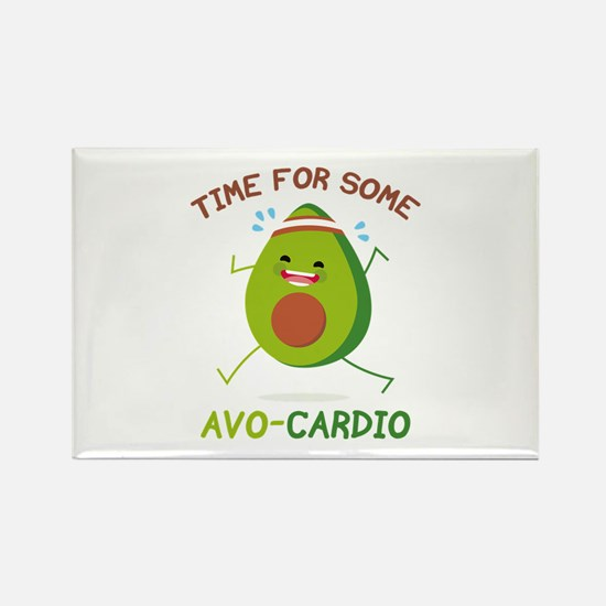 Time For Some Avo-Cardio Rectangle Magnet