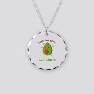 Time For Some Avo-Cardio Necklace Circle Charm