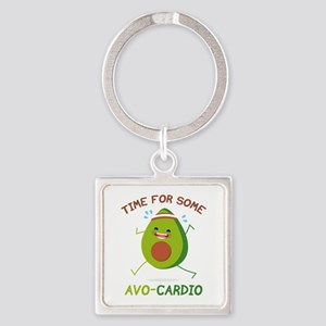 Time For Some Avo-Cardio Square Keychain