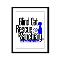 Blind Cat Rescue & Sanctuary Framed Panel Print