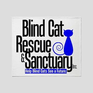 Blind Cat Rescue & Sanctuary Throw Blanket