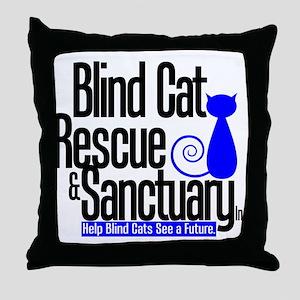 Blind Cat Rescue & Sanctuary Throw Pillow