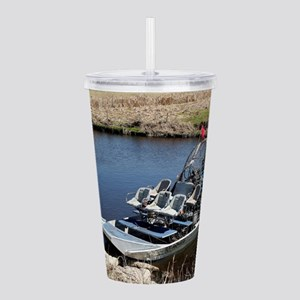 Florida swamp airboat Acrylic Double-wall Tumbler