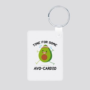 Time For Some Avo-Cardio Aluminum Photo Keychain