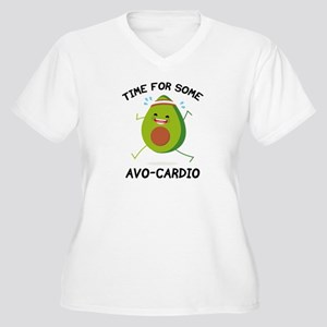 Time For Some Avo-Cardio Women's Plus Size V-Neck