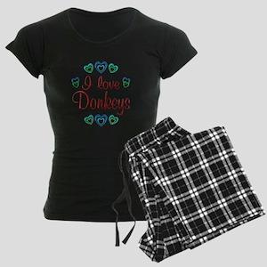 I Love Donkeys Women's Dark Pajamas