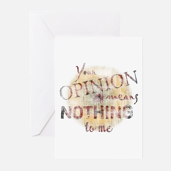 Your Opinion Means Nothing To Greeting Cards (Pack