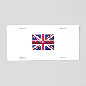 Flag UK Aluminum License Plate