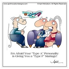 TYPE A PERSONALITY by April McCallum Poster