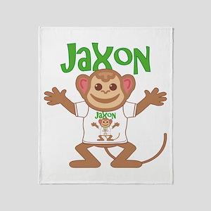 Little Monkey Jaxon Throw Blanket