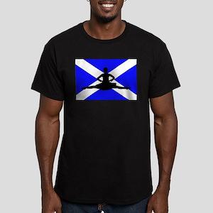 Scotland Leap Men's Fitted T-Shirt (dark)