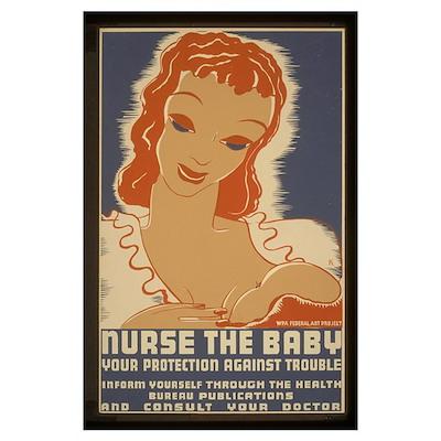 Nurse the Baby WPA Poster