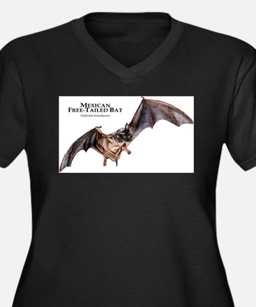 Mexican Free-Tailed Bat Women's Plus Size V-Neck D