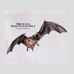 Mexican Free-Tailed Bat Throw Blanket