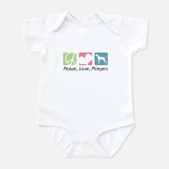 Peace, Love, Pointers Infant Bodysuit