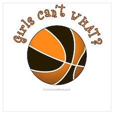 Black/Orange Basketball Poster