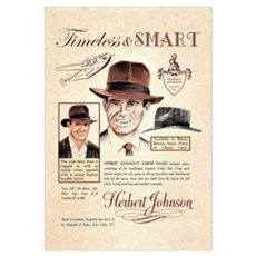 Vintage Fedora Hat Advertisement Canvas Art