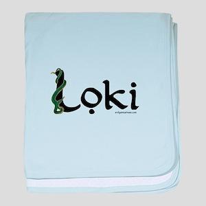 Loki with snake baby blanket