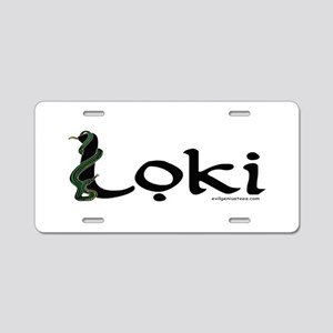 Loki with snake Aluminum License Plate