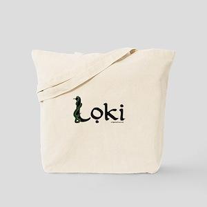 Loki with snake Tote Bag