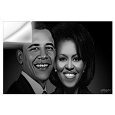 The President and First Lady (Black and White) Wall Decal