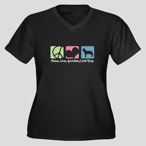 Australian Cattle Dog Women's Plus Size V-Neck Dar