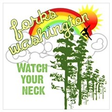 Forks Washington Twilight Poster