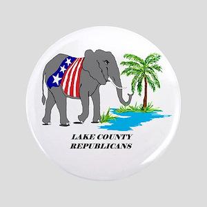 "Lake County Republicans Custom 3.5"" Button"