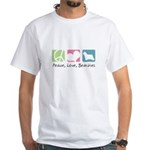 Peace, Love, Beardies White T-Shirt