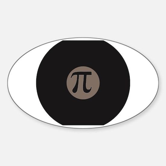 Unique Simple math Sticker (Oval)