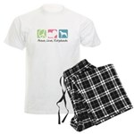Peace, Love, Ridgebacks Men's Light Pajamas