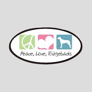 Peace, Love, Ridgebacks Patches