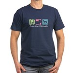 Peace, Love, Ridgebacks Men's Fitted T-Shirt (dark