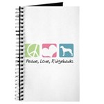 Peace, Love, Ridgebacks Journal