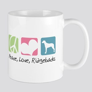 Peace, Love, Ridgebacks Mug