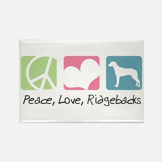 Peace, Love, Ridgebacks Rectangle Magnet