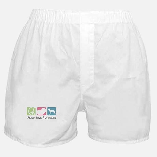Peace, Love, Ridgebacks Boxer Shorts