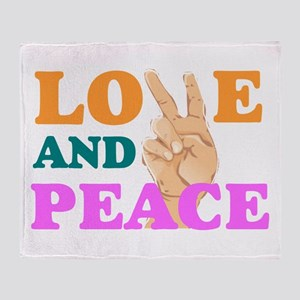 love and peace 2 Throw Blanket
