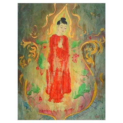 enlightened budda framed fine art prints Poster