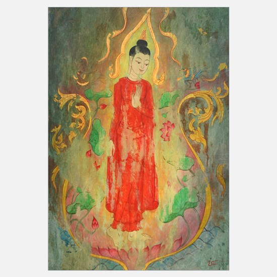 enlightened budda framed fine art prints