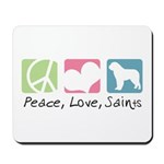 Peace, Love, Saints Mousepad