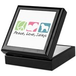 Peace, Love, Saints Keepsake Box