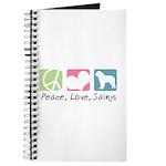 Peace, Love, Saints Journal