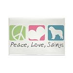 Peace, Love, Saints Rectangle Magnet (10 pack)