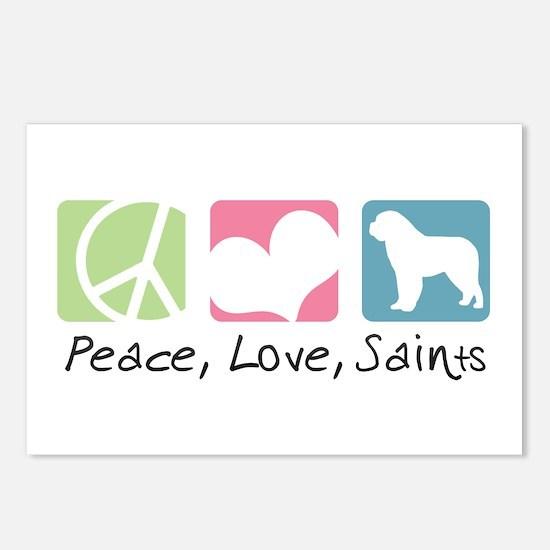 Peace, Love, Saints Postcards (Package of 8)