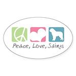 Peace, Love, Saints Sticker (Oval 10 pk)